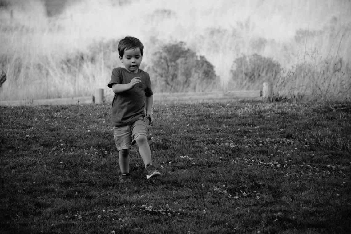 baby black and white boy child
